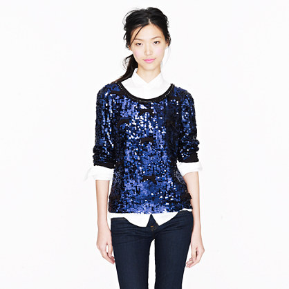 Collection bow sequin top