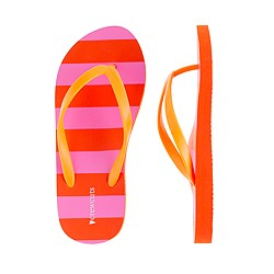Girls' stripe flip-flops