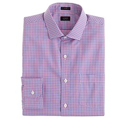 Ludlow spread-collar shirt in glendale tattersall