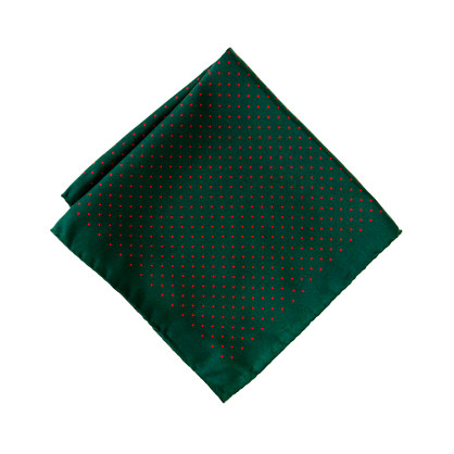 Mini-dot silk pocket square