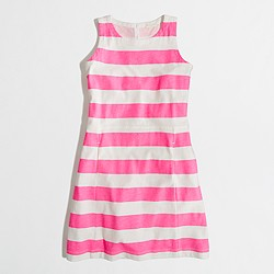 Factory girls' stripe pocket dress