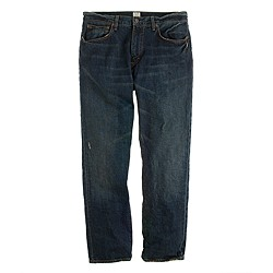 Vintage slim-fit jean in dark worn wash