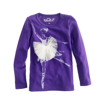Girls' long-sleeve arabesque tee