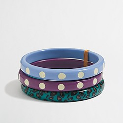 Factory girls' novelty bangle three-pack