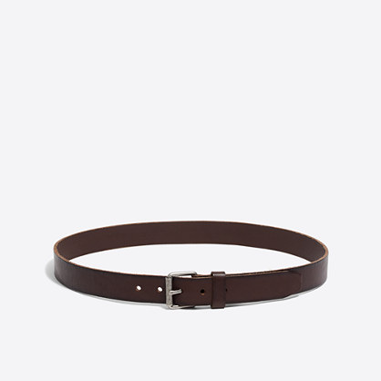 Factory washed leather belt