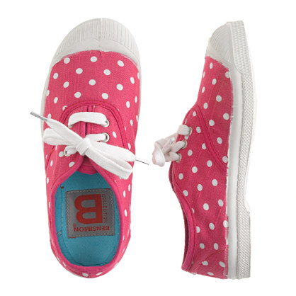 bensimon 174 elly tennis shoes in polka dot sneakers