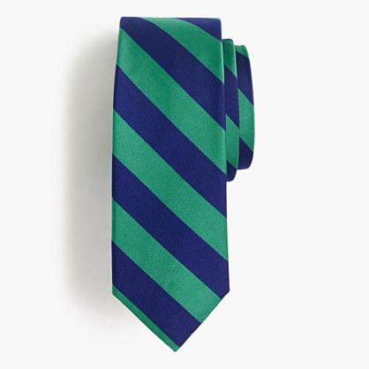 Silk repp striped tie