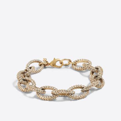 Factory gold and crystal link bracelet