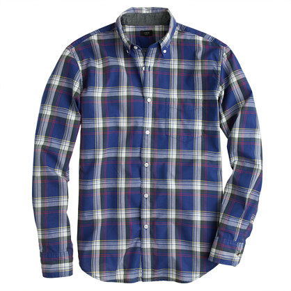 Sale alerts for J.CREW Tartan shirt in highlander green - Covvet