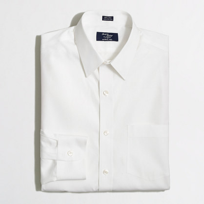 Factory wrinkle-free Voyager dress shirt in white