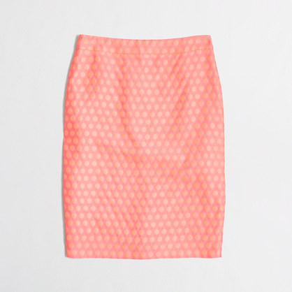 Factory pencil skirt in polka dot