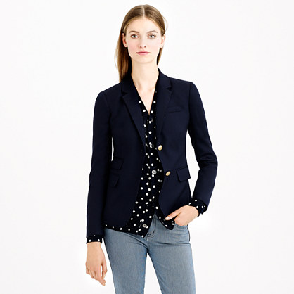 Sale alerts for J.CREW Petite schoolboy blazer in navy - Covvet