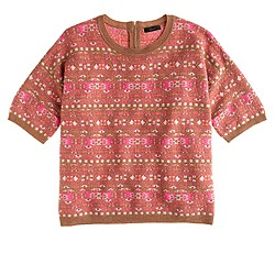 Collection cashmere Fair Isle back-zip sweater