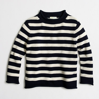 "Boys' rugby-striped rollneckâ""¢ sweater"