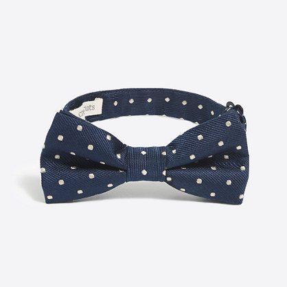 Boys' patterned silk bow tie