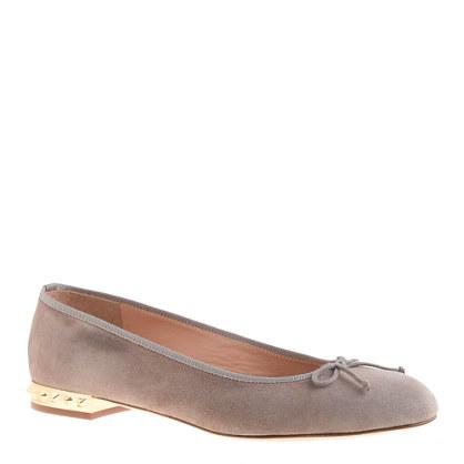 Sale alerts for J.CREW Kiki suede studded-heel ballet flats - Covvet