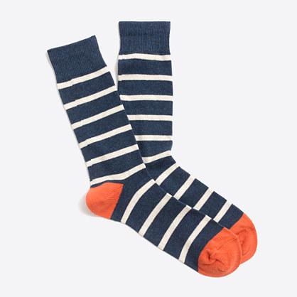 Factory tipped-stripe socks