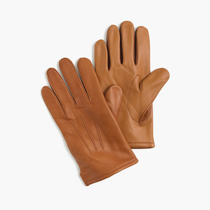 Cashmere-lined leather smartphone gloves