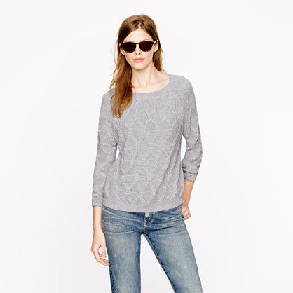 Sale alerts for J.CREW Nili Lotan® cable sweater in super baby alpaca - Covvet