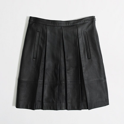 factory pleated leather skirt skirts j crew factory