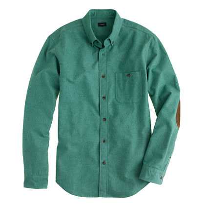 Heathered Chamois Elbow Patch Shirt Heathered Elbow