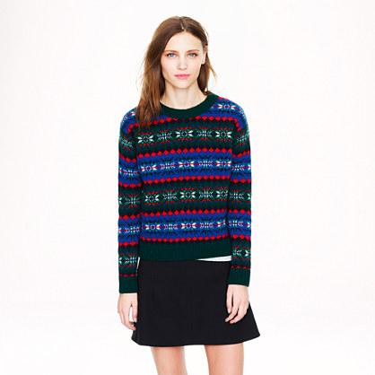 harley of scotland for j crew fair isle sweater. Black Bedroom Furniture Sets. Home Design Ideas