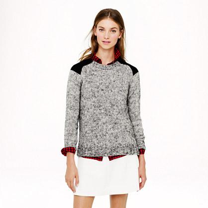 Sale alerts for J.CREW Marled colorblock-shoulder sweater - Covvet