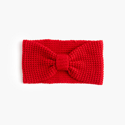 Girls' knotted ear warmer