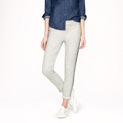 Side-stripe skinny sweatpant
