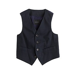 Boys' Ludlow suit vest in Italian chino