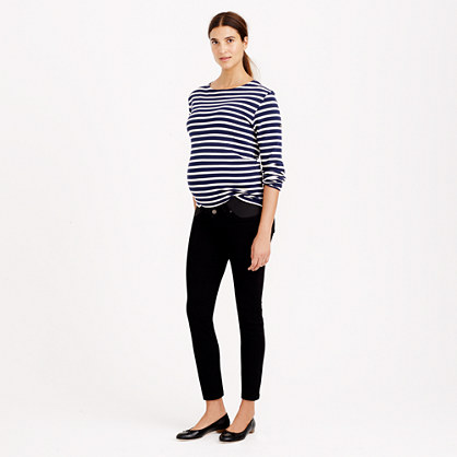 Tall maternity toothpick jean in pitch black wash