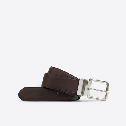 Factory reversible leather belt