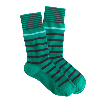 Mixed-stripe socks
