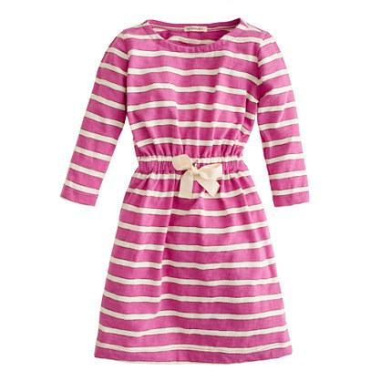 Girls' jitterbug dress in stripe