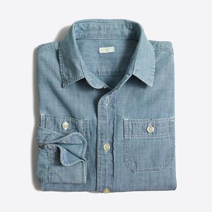 Factory kids' classic chambray shirt