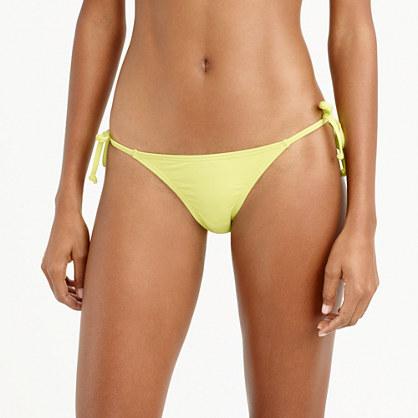 Italian matte string hipster bikini bottom