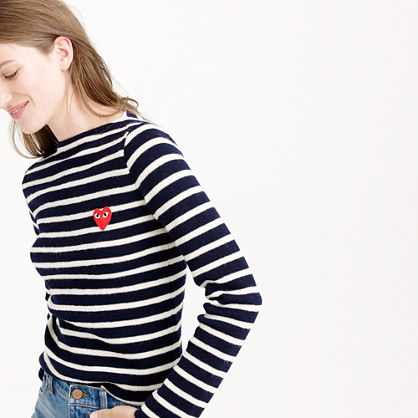 Sale alerts for J.CREW PLAY Comme des Garçons® stripe sweater - Covvet