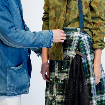 #JCREWNYFW: tartan, tulle, stripes, camo…
