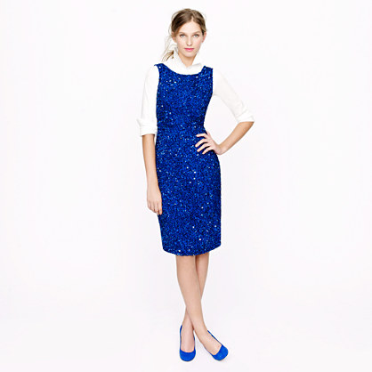 Collection blue sequin dress