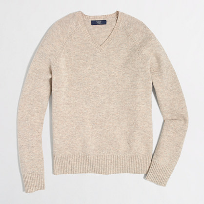 Factory lambswool V-neck sweater