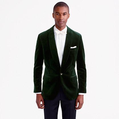 Ludlow shawl-collar blazer in velvet