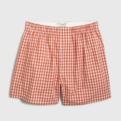 Orange gingham boxers