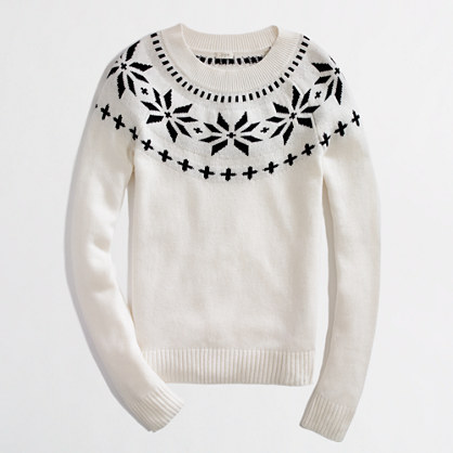 Factory Intarsia Fair Isle Sweater Sweaters J Crew Factory