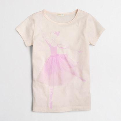 Girls' ballerina keepsake t-SHIRT