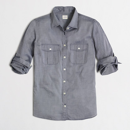 Factory end-on-end camp shirt in perfect fit