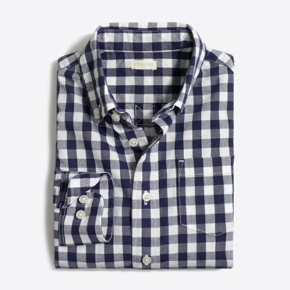 Factory boys' patterned washed shirt