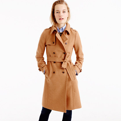 Petite icon trench coat in wool-cashmere