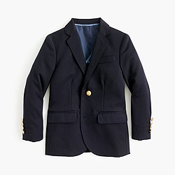 Boys' two-button blazer in navy wool