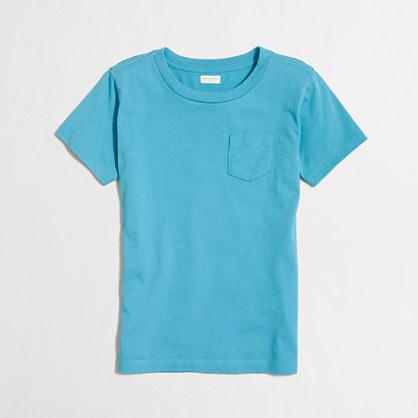 Factory boys' short-sleeve jersey pocket tee