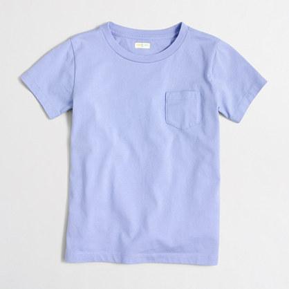 Factory boys' short-sleeve jersey pocket T-shirt